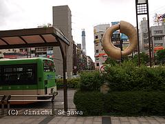 錦糸町駅北口から見たスカイツリー