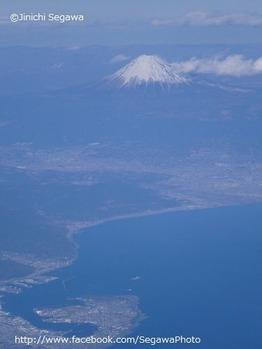 三保松原と富士山の空撮
