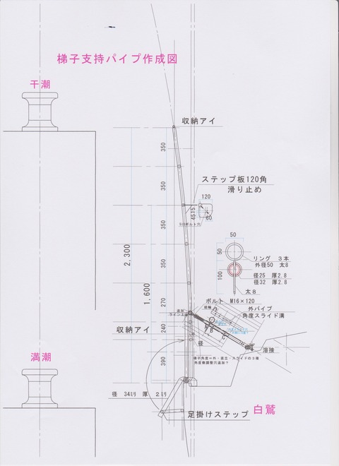 岸壁梯子概念図 001