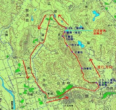 岩山ルート図