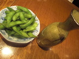 あずみ野 熱燗&枝豆