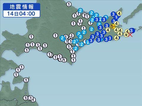 4月14日の地震予知◇川崎市周辺