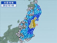 2月28日地震予想。16時49分福島県沖M5.6震度5弱