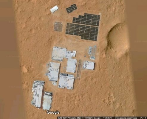 【Google Maps】火星に「謎の人工施設」を発見…ソーラーパネルなどの建造物、既に火星には基地が存在しているのか?