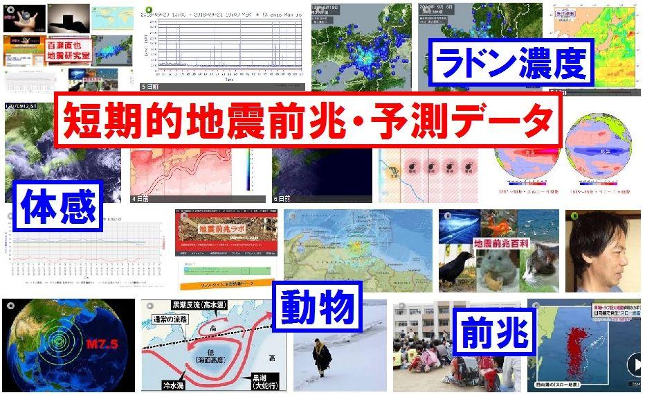 【常時更新】短期的地震前兆・予測データ(ラドン・体感・ハムスター・ばけたん・磁石落下・etc)