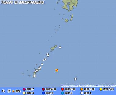 【沖縄本島近海で群発地震】今日だけでも地震が約20回発生