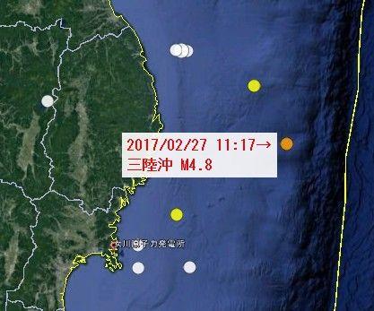 【地震】2/27福島県沖M4.9などの地震は早川正士氏の「予知するアンテナ」が予測したものだったか?