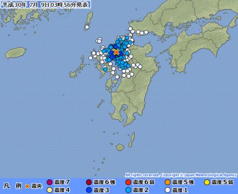 【九州】福岡県と佐賀県で震度3 M4.1 震源地は佐賀県南部…その前にも福岡で震度2 M3.4 震源地は福岡県福岡地方