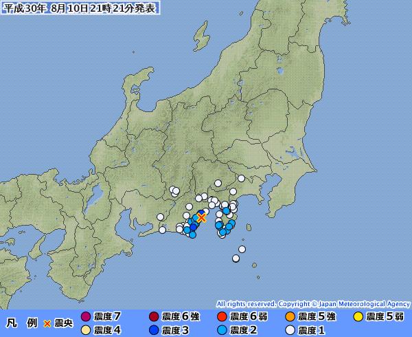 地震予知 駿河湾、福島、国内各地の反応とスタンバイ連絡です