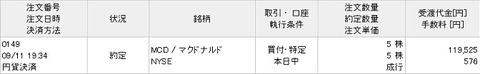 買い付け画面(2019年9月11日)