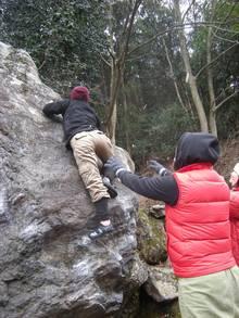 マミ岩3Qを完登するヨスコ