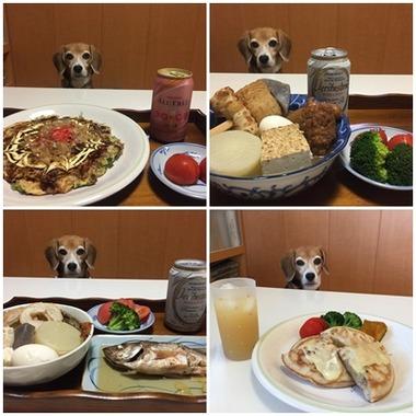 食べ物とひびこ