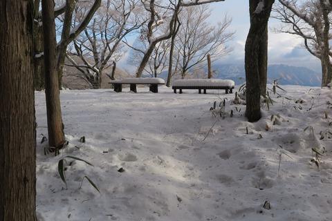 展望台のベンチ