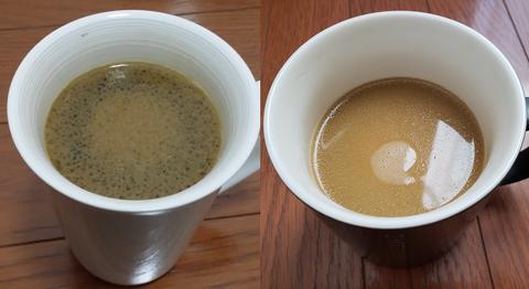 バターコーヒー新旧
