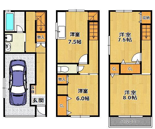 姫島2丁目貸家