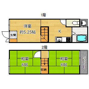 御幣島3丁目貸家5.8万円