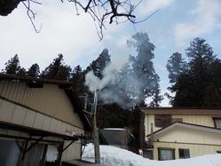 薪ストーブの煙突