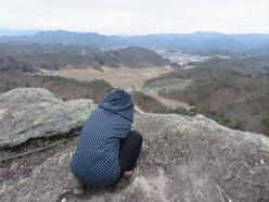 ㉓紙飛ばし岩のてっぺん