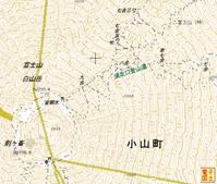 富士山山頂の地図
