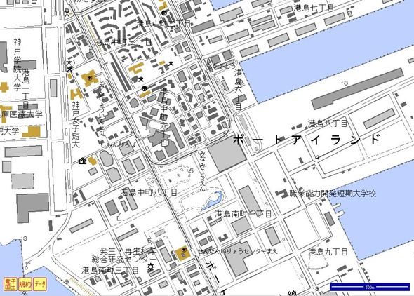 09 電子国土画像(ポーアイ中心部)