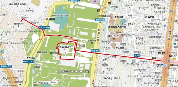 増上寺(2)map