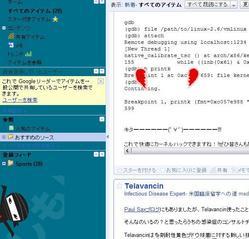 Googleリーダー ニンジャモード 登録解除画面