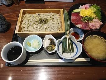 越州 えっしゅう 新橋店 ランチ 鉄火丼と蕎麦御膳