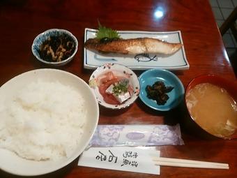 新橋 石居 ランチ 焼き魚目だい粕漬定食