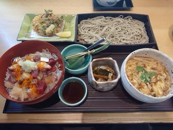 銀座久保田ランチ 季節丼と蕎麦膳