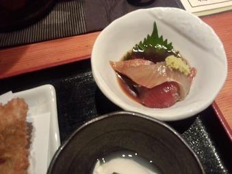 京ばし松輪 ランチ 海鮮漬け小鉢 刺身