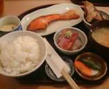 新橋 舞浜 ランチ 鮭焼き定食