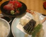 銀座 いか福 ランチ いか福膳 刺身 天ぷら
