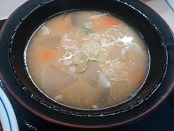 新橋 かつや ランチ カツ丼 豚汁