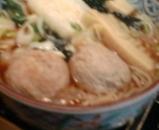 新橋 本陣房本店 ランチ 若竹と鳥団子蕎麦