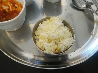 銀座インド料理カーンケバブビリヤニ ランチ バスマティライスお替り
