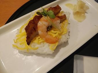 新橋 かおりひめ「正月メニュー 香川の雑煮」押し寿司
