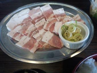 男の焼焼 新橋本店 ランチ 豚葱塩