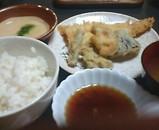新橋 銀水 とろろ定食 穴子天ぷら