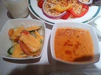 銀座 ラージマハール ランチ サラダ スープ