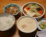 銀座 吉宗 日替わりランチ 鱈と豆腐の蒸しもの