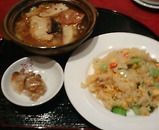 銀座 維新號 いしんごう 新館 ランチ 上海風精進鍋と海鮮炒飯