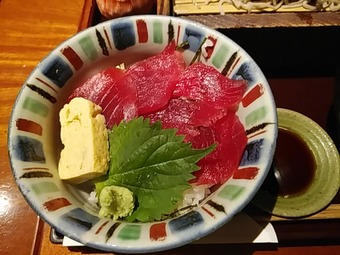 新橋 旧月 ランチ 肉つけ蕎麦とまぐろ丼 マグロ丼