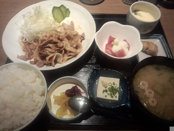 新橋 魚豊 ランチ 黒豚生姜焼き