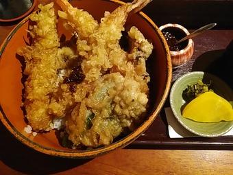 新橋 旧月 きゅうづき ランチ 自慢天丼 そばセット 柚子辛味噌