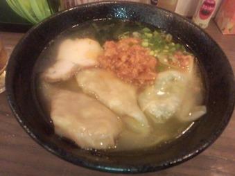 新橋 雲呑房麺家 わんたん 三色雲呑麺辛味噌のせ ランチパスポート