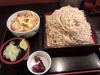 新橋 蕎麦 寿毛平 ランチ サービスセット