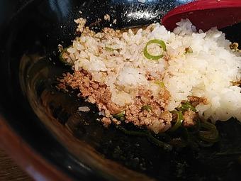 新橋 広島汁なし担担麺 山椒家 さんしょうや ライス