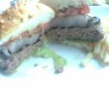 汐留シティーセンター オレゴンバー ランチ  炭火焼ハンバーガー