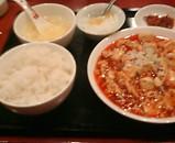 新橋 桂園 麻婆豆腐定食