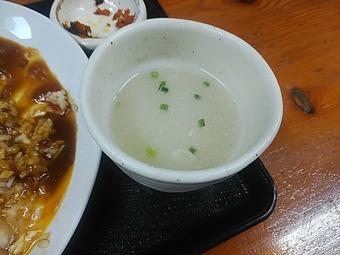 築地鳥藤分店 ランチ スープ